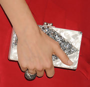 Kelly Rutherford opted for a classic sparkly clutch for her red carpet look.