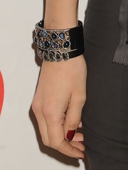 Mary Alice Stephenson topped off her evening look with a gemstone cuff bracelet.