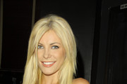 Crystal Harris, Hugh Hefner's girlfriend, seen attending the H.Wood.Beauty launch party at the Tea Room in Hollywood. .