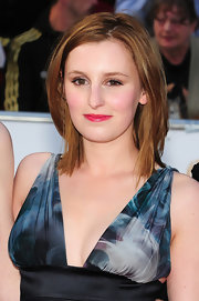 Laura Carmichael looked fresh wearing pink lipstick at the 2011 BAFTAS.