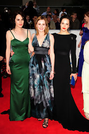 Laura Carmichael opted for a satin tie-dye gown for the BAFTAS.