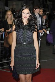 Kaya Scodelario opted for an airy sleeveless print dress for her 'Now is Good' premiere red carpet look.