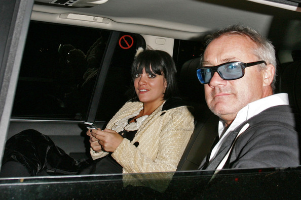 Lily Allen and Damien Hirst in Covent Garden