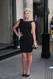 Kerry Katona showed off her curves with this sleek LBD, which she wore to the TRIC Awards.