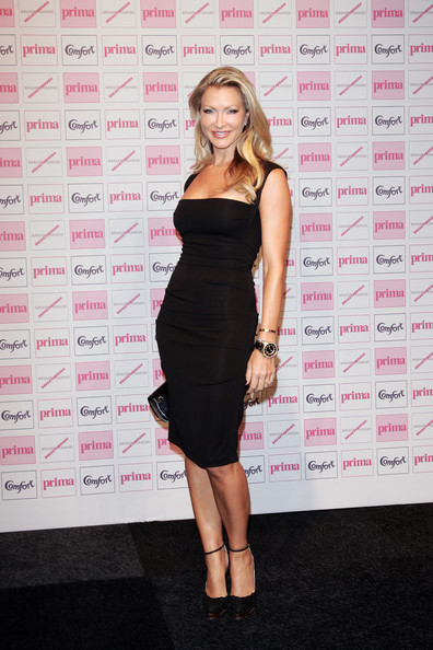 Caprice cut a simple yet stylish silhouette at the Comfort Prima High Street Fashion Awards in this elegant LBD.