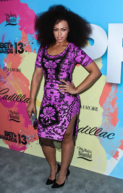 Elle Varner sported a purple lace dress at the Pre-BET Awards Celebration Dinner.