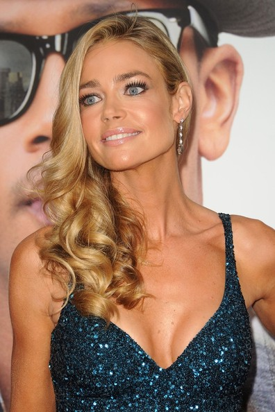 Denise Richards Dangling Gemstone Earrings