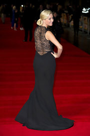 Denise showed off the stunning sheer back of her black gown at the 'Run for Your Wife' premiere in London.