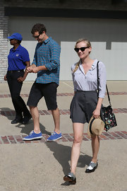 Diane Kruger rocked a fun and preppy look while out in Malibu when she wore this dotted button down and a flowing mini.