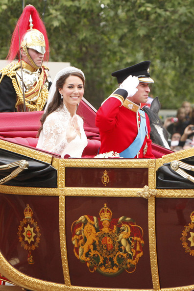 Kate+Middleton in The Duke and Duchess of Cambridge in the Royal Carriage