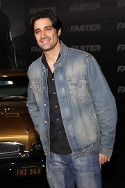 Gilles Marini donned a denim-on-denim ensemble for a movie premiere in LA.