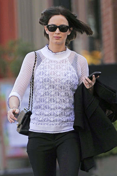 Emily Blunt Knit Top