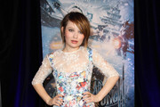 Emily Browning Print Dress