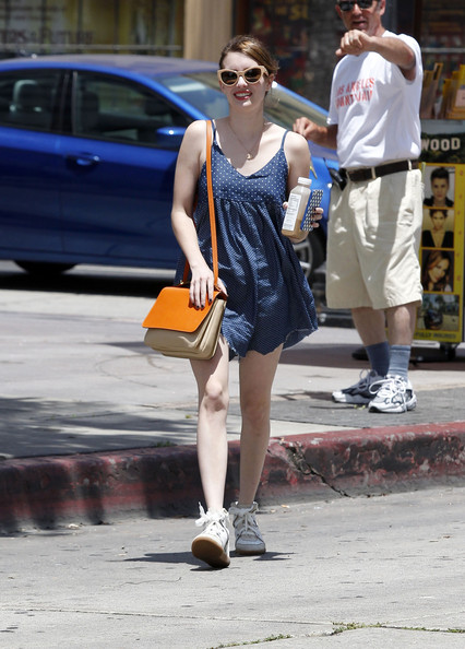 Emma Roberts Leather Shoulder Bag