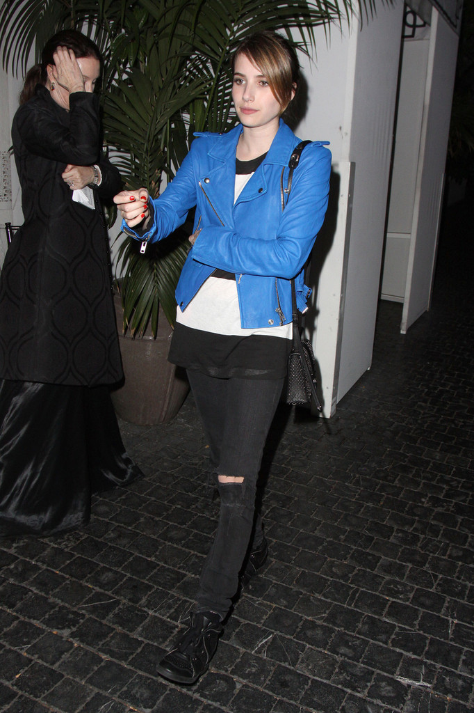 More Pics Of Emma Roberts Leather Jacket 3 Of 10 Leather Jacket Lookbook Stylebistro