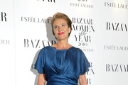 Emma Thompson Looks Sensational in a Cerulean Blue Floor Length Gown
