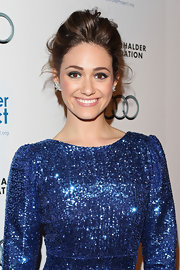 Emmy Rossum wore a pair of 15-carat diamond cluster earrings at the Water Project Benefit.