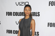 Thandie Newton Wears Evening Sandals by Calvin Klein