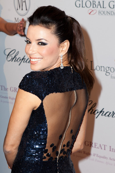 Eva Longoria Diamond Chandelier Earrings