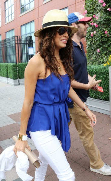 More Pics of Eva Longoria Straw Hat (1 of 12) - Eva Longoria Lookbook - StyleBistro