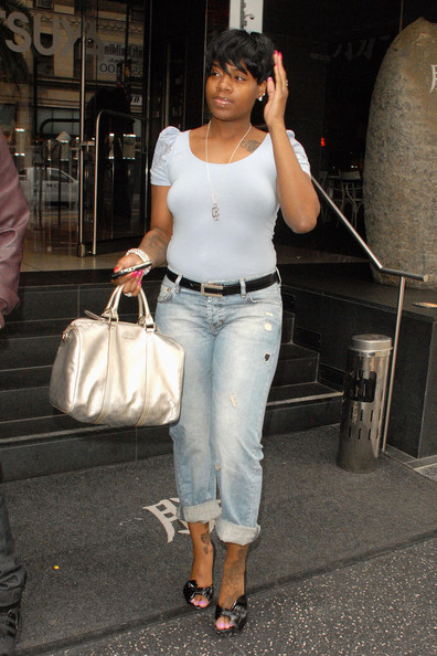 Fantasia Barrino Metallic Tote