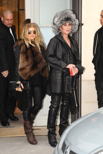 Cher and Fergie Shop Together in Paris