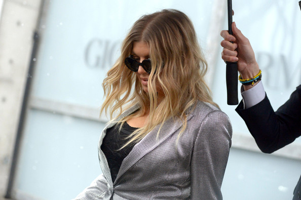 Fergie and Anna Wintour at Milan Fashion Week