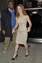 Jillian Michaels showed off her fit figure with this sleeveless polka dot dress while stopping by the 'Wendy Williams Show.'