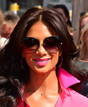 Nicole opted for a more glamorous look when she rocked oversized sunnies.