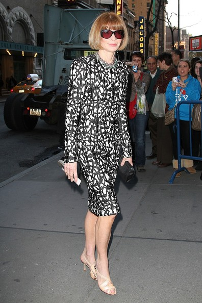 More Pics of Anna Wintour Print Dress (1 of 4) - Anna Wintour Lookbook - StyleBistro