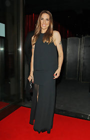 Mel C kept it simple with this minimalist black evening dress at the ITV Summer Party.