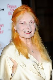 Vivienne Westwood wore her hair in a simple half-up half-down style at the Fashion for Relief charity dinner.