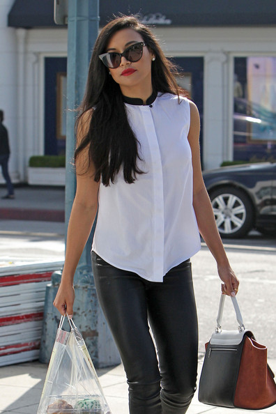 More Pics of Naya Rivera Button Down Shirt (4 of 19) - Tops Lookbook - StyleBistro