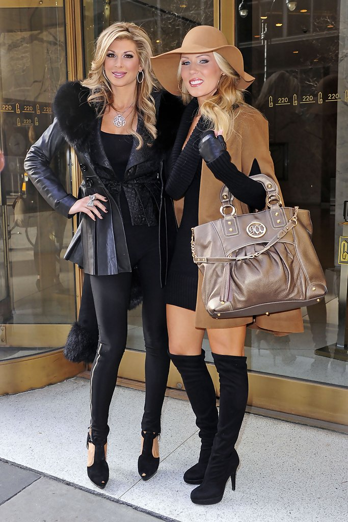 Gretchen Rossi Carried A Metallic Taupe Tote Around Nyc