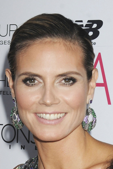 Heidi Klum Dangling Gemstone Earrings