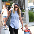 Hilary Duff's Sleeveless Chambray Button-Down
