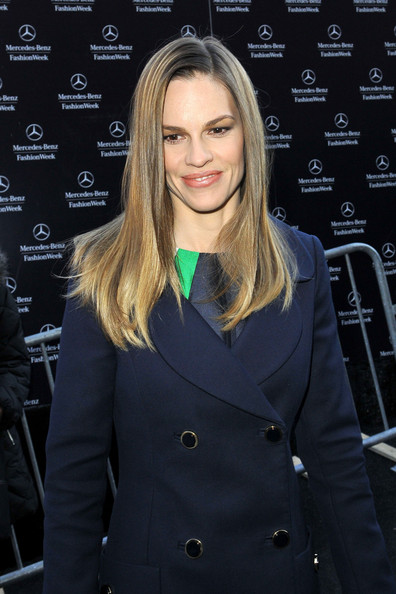 More Pics of Hilary Swank Wool Coat (1 of 10) - Hilary Swank Lookbook - StyleBistro