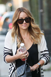 Lauren Conrad wore her long layered cut in casual waves while out in LA.