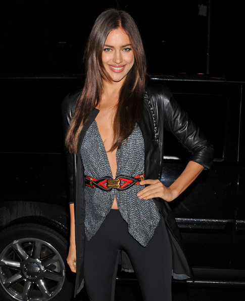 Irina Shayk Metallic Belt