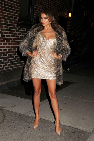 Irina Shayk Fur Coat