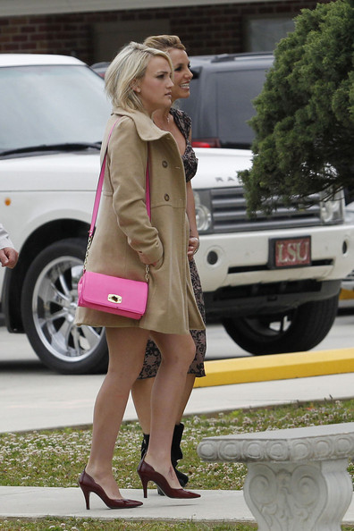 Jamie Lynn Spears Leather Shoulder Bag