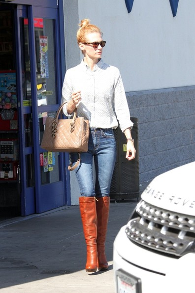 January Jones Knee High Boots