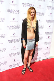 Rumer Willis showed her unique style on the red carpet when she chose this silver mini for the opening of the Marquee Dayclub in Las Vegas.