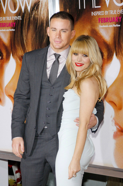 More Pics of Rachel McAdams Long Wavy Cut with Bangs (2 of 8) - Rachel McAdams Lookbook - StyleBistro