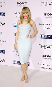 Rachel McAdams looked minty fresh in this draped pastel bustier dress at the Hollywood premiere of 'The Vow.'