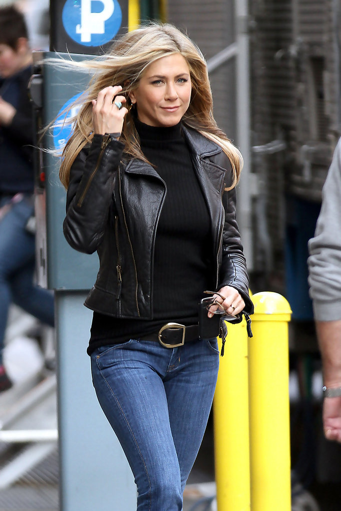 More Pics Of Jennifer Aniston Leather Jacket 4 Of 8 Jennifer Aniston Lookbook Stylebistro