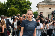 Leelee Sobieski arrives at Dior Haute Couture Fall-Winter 2013-2014 fashion show in Paris.