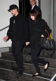 "Nicole's black patent leather ""Ballet Flats"" are chic and stylish and they look awesome with skinny jeans."