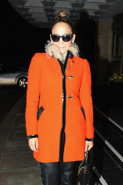 More Pics of Jennifer Lopez Wool Coat (1 of 15) - Jennifer Lopez Lookbook - StyleBistro
