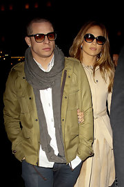 Casper Smart's gray scarf tied the neutrals in his outfit together.